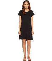 HEATHER - Cotton & Gauze Panel Back Tee Dress