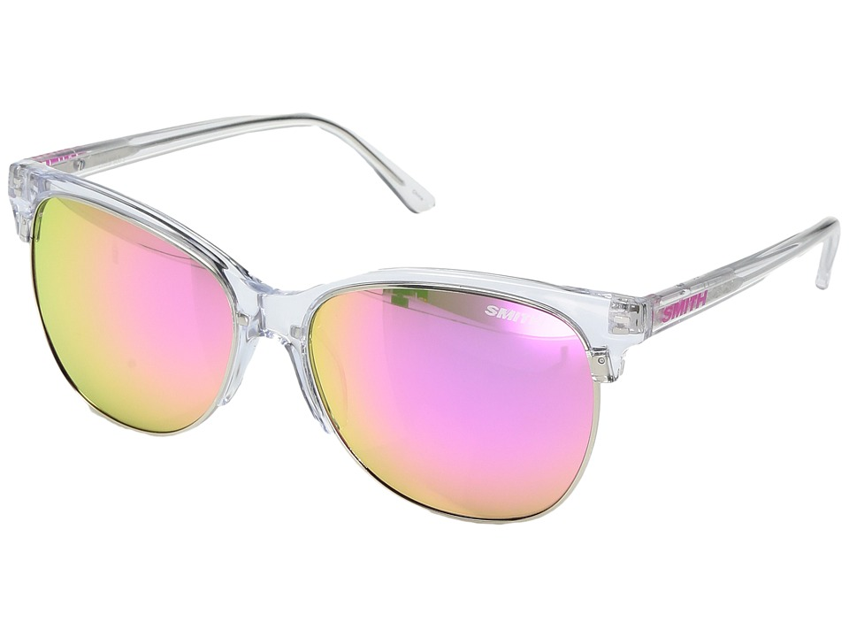 Smith Optics - Rebel (Crystal/Carbonic Pink Mirror Lens) Fashion Sunglasses