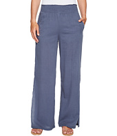 HEATHER - Janis Twill Voile Split Side Wide Leg Pants