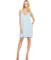 HEATHER - Maryann Twill Voile V-Neck Tie Dress