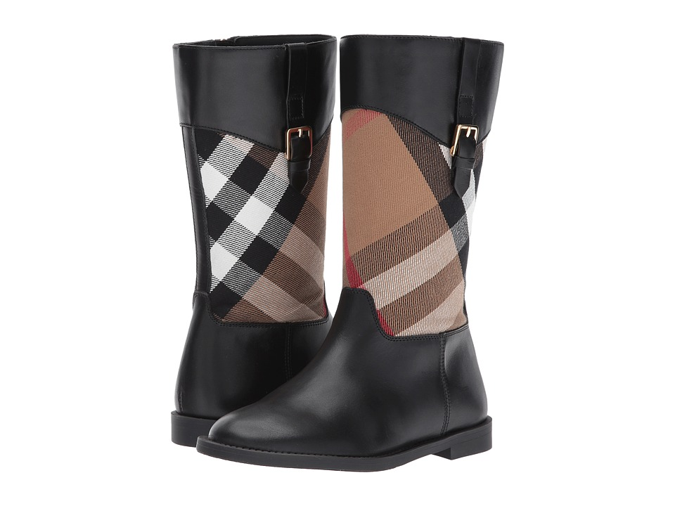 Burberry Kids Mini Copse Boots (Toddler/Little Kid) (Lacquer Black) Girls Shoes