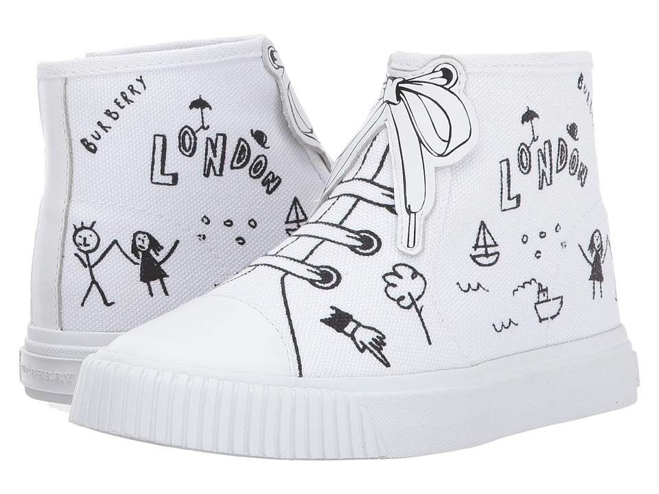 Burberry Kids Warslow Scribble (Toddler/Little Kid) (Optic White) Kids Shoes
