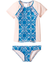 Roxy Kids - Sunny Dreams Teenie Wahine Short Sleeve Lycra Set (Toddler/Little Kids)
