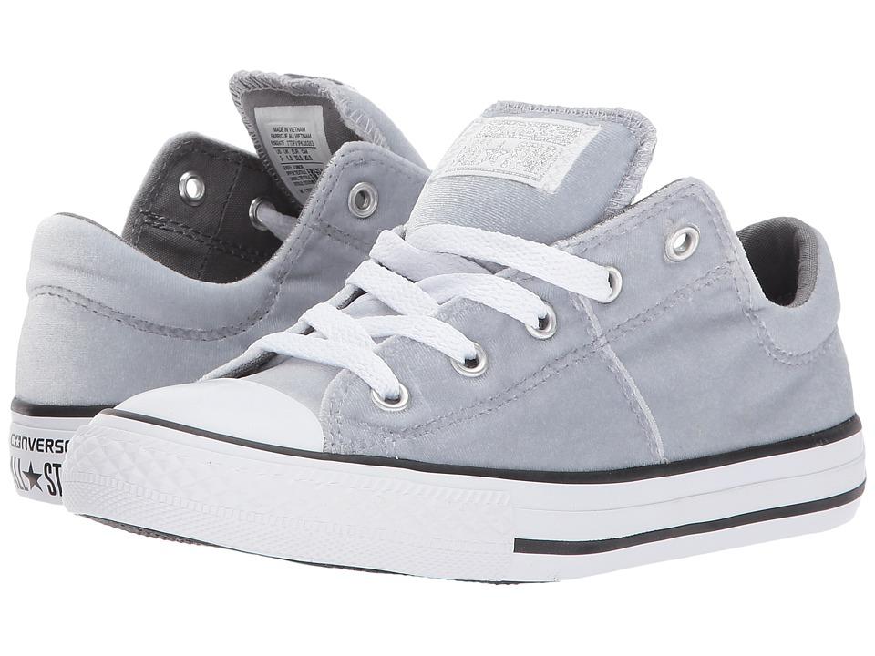 Converse Kids Chuck Taylor All Star Velvet Madison Ox (Little Kid/Big Kid) (Wolf Grey/Mason/White) Girls Shoes