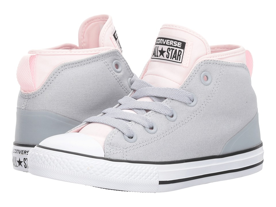 Converse Kids Chuck Taylor All Star Syde Street Mid (Little Kid/Big Kid) (Wolf Grey/Arctic Pink/White) Girls Shoes