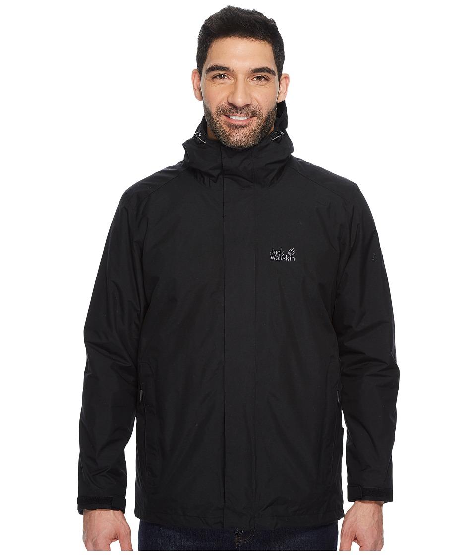 Jack Wolfskin - Iceland 3-in-1 Jacket (Black 1) Mens Coat