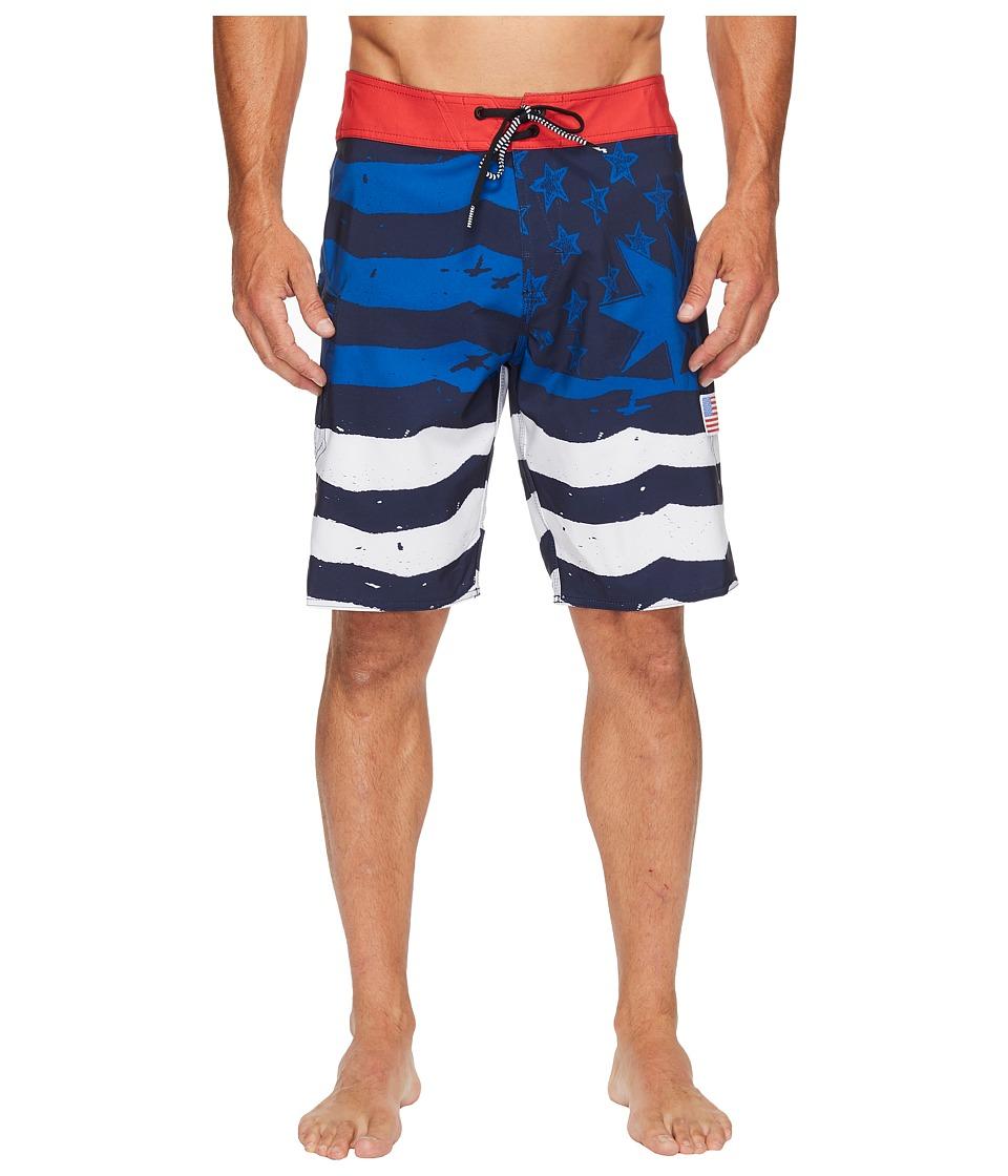 Volcom 4th of July Style 20 Boardshorts (True Blue) Men