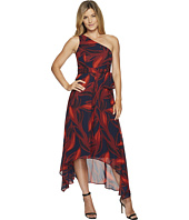 Vince Camuto - Printed Chiffon One Shoulder Dress