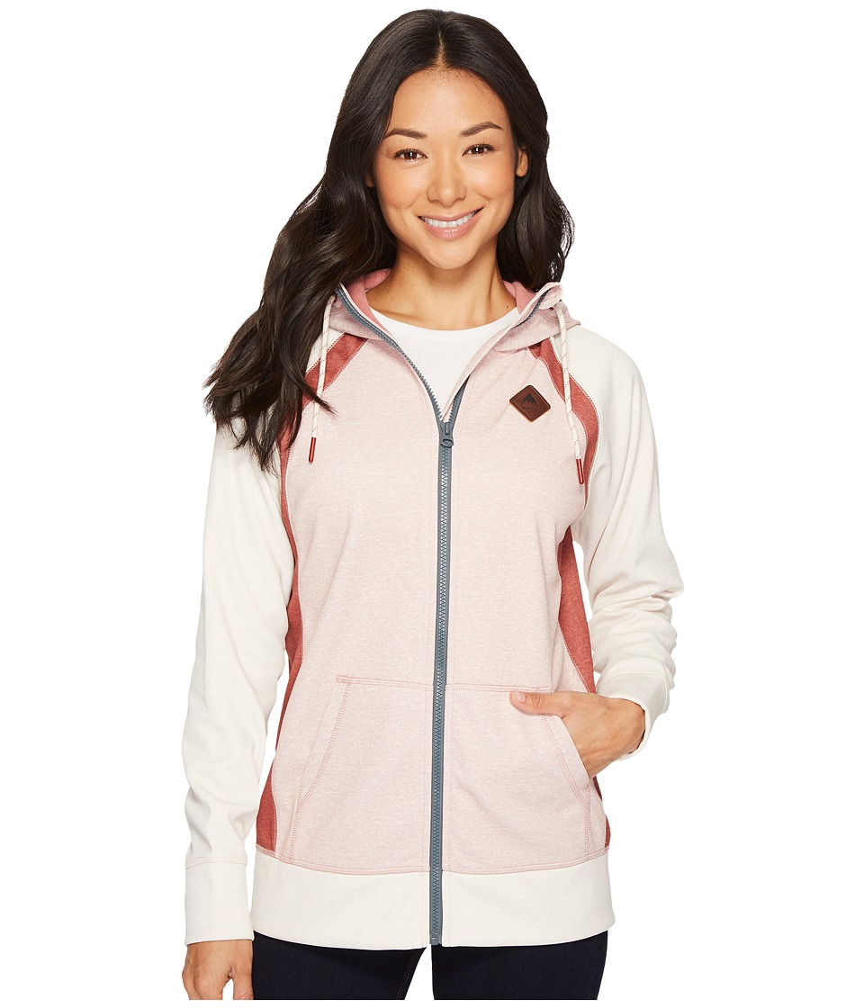 Burton - Bonded Scoop Hoodie (Dusty Rose Heather) Women's Sweatshirt