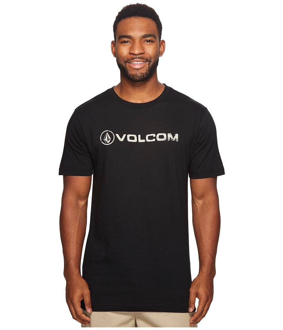 Volcom Lino Euro Short Sleeve Tee (Black) Men