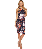Vince Camuto - Printed Scuba Crepe Halter Bodycon Dress