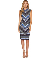 Vince Camuto - Printed Scuba Crepe Bodycon Dress