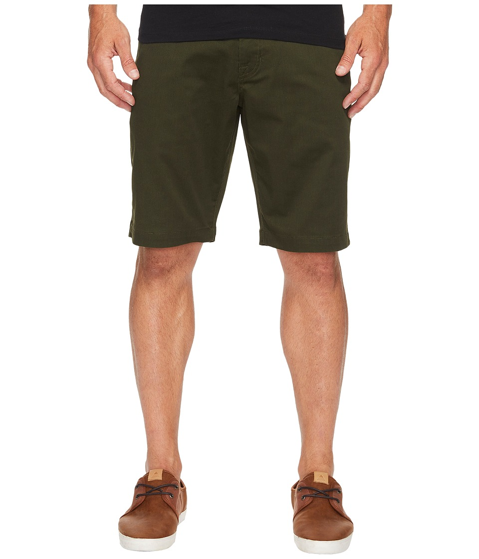 Volcom Frickin Modern Stretch Chino Shorts (Dark Green) Men