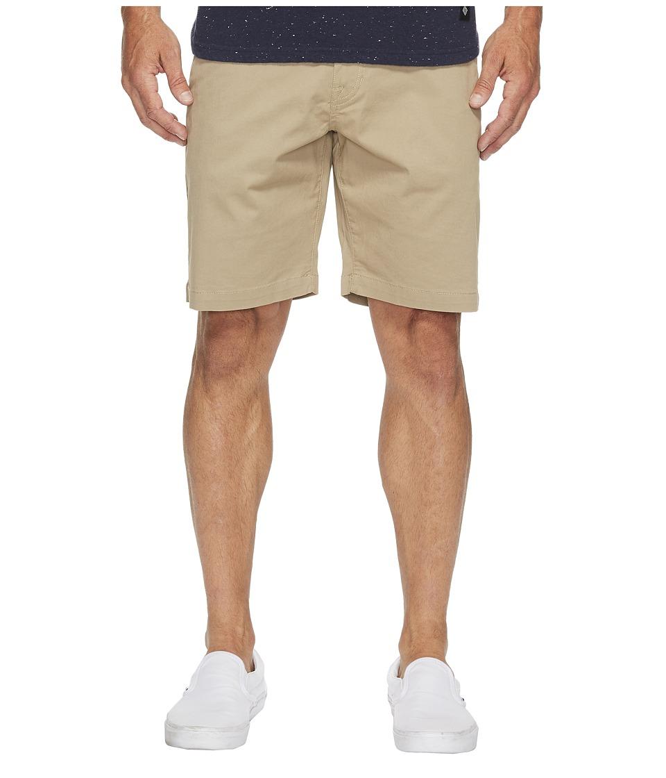 Volcom Frickin Lightweight Chino Shorts (Khaki) Men
