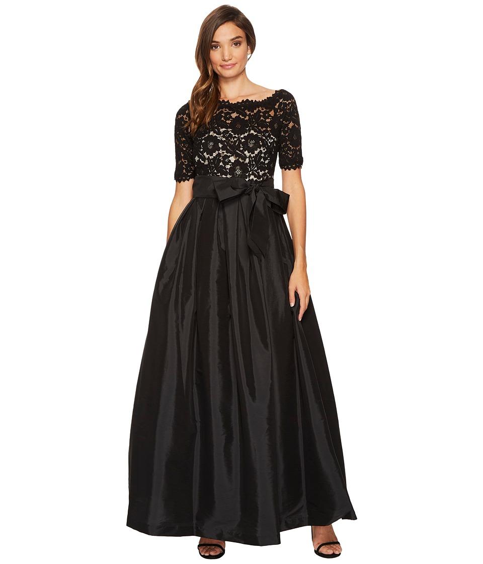 Vince Camuto Lace/Taffeta Cold Shoulder Dress (Black) Women