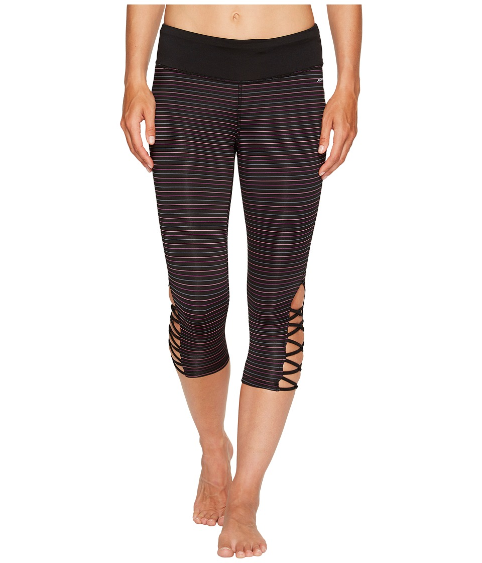 Jockey Active Go Stripe Capris (Deep Black) Women