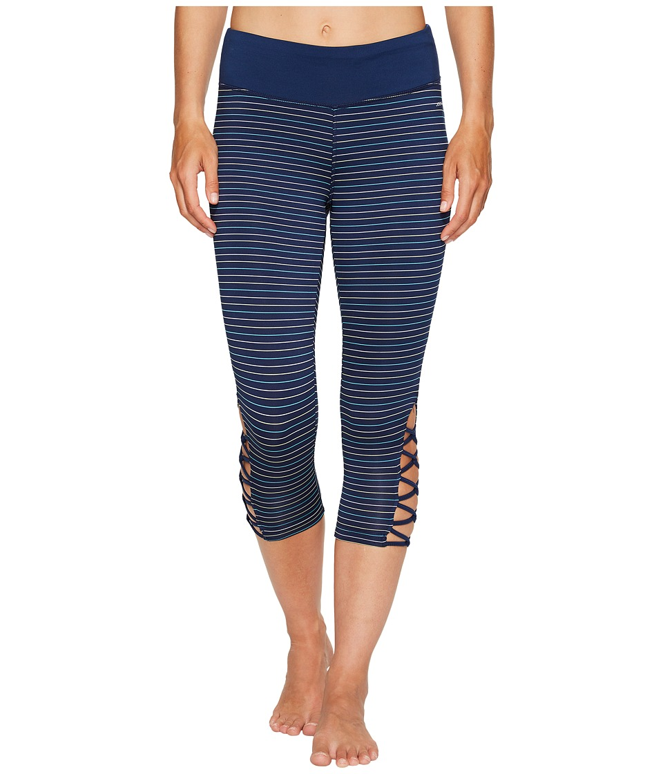Jockey Active Go Stripe Capris (Midnight) Women