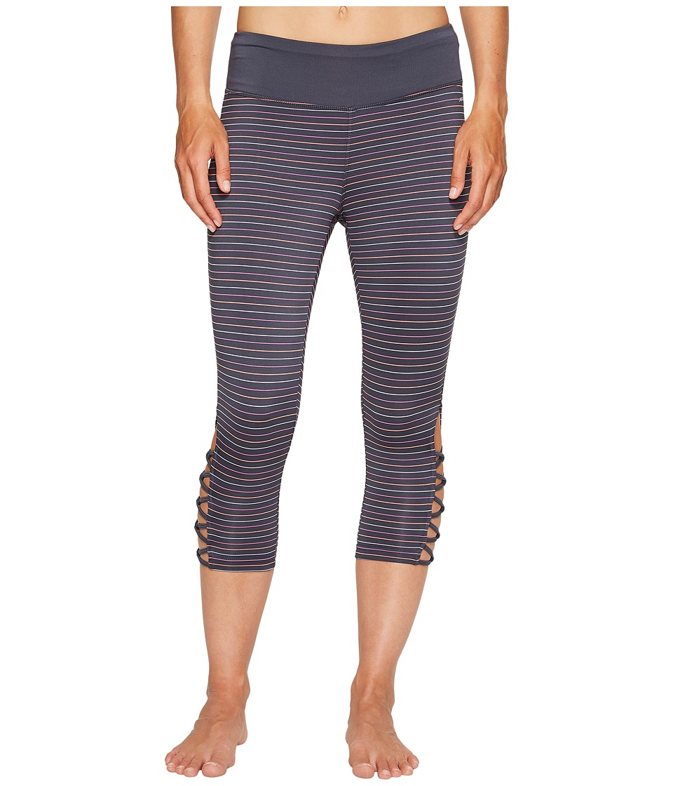 Jockey Active Go Stripe Capris (Dirty Denim) Women