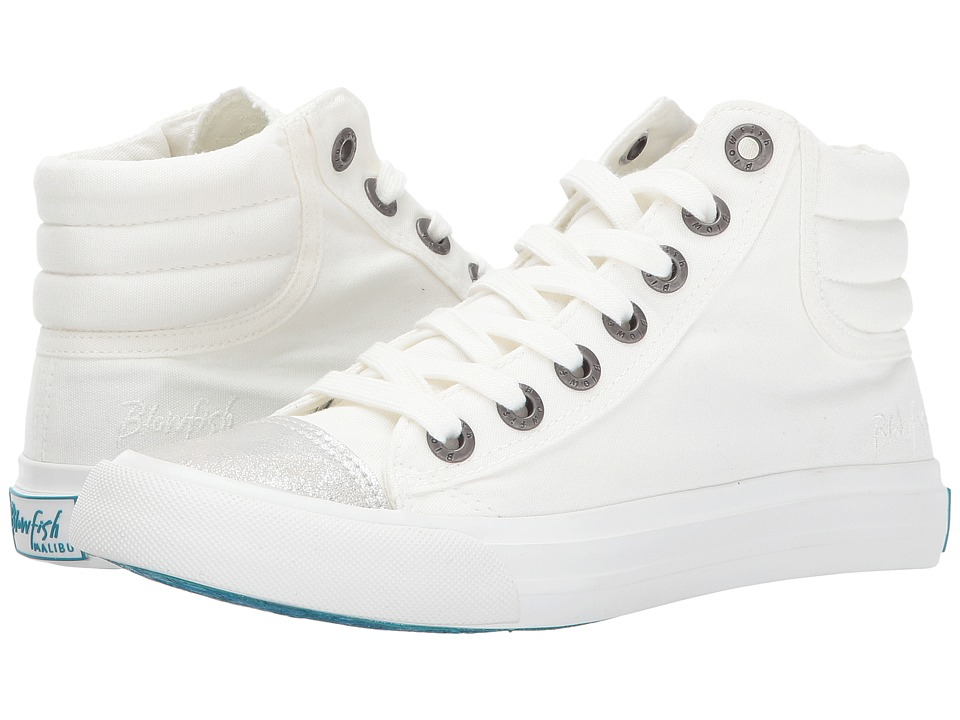 Blowfish Madras (White Color Washed Canvas/Silver Meteo) Women