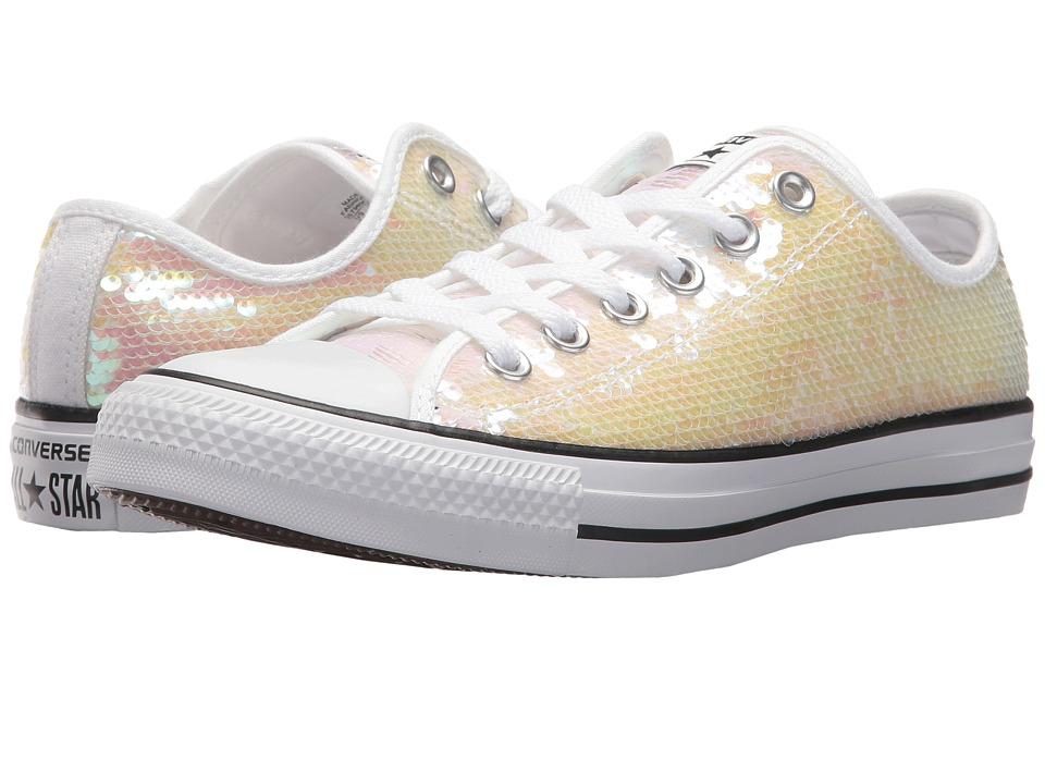 Converse Chuck Taylor(r) All Star(r) Sequins Ox (White/Bl...