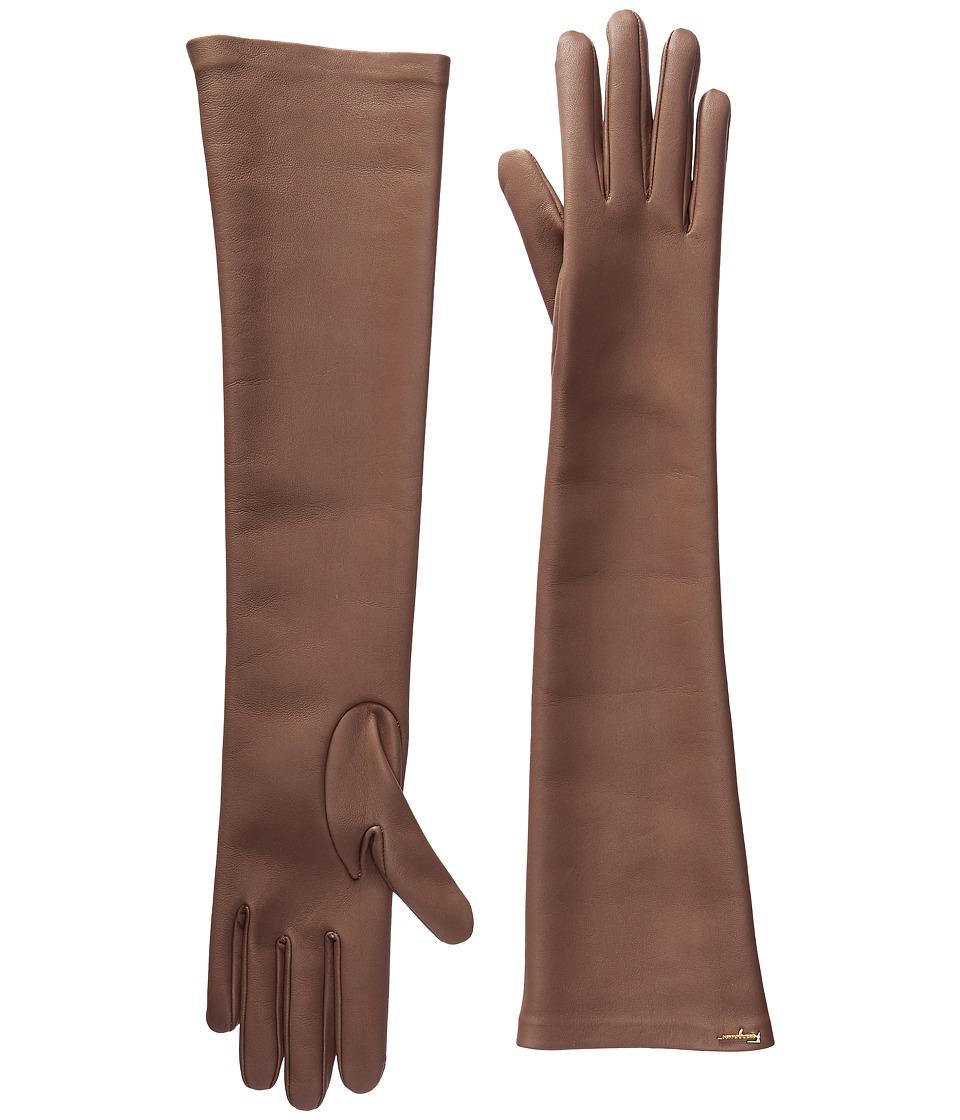 Salvatore Ferragamo 360651 GU NAP.STR Gloves (Betulla/Pigeon Betulla/Pigeon) Dress Gloves