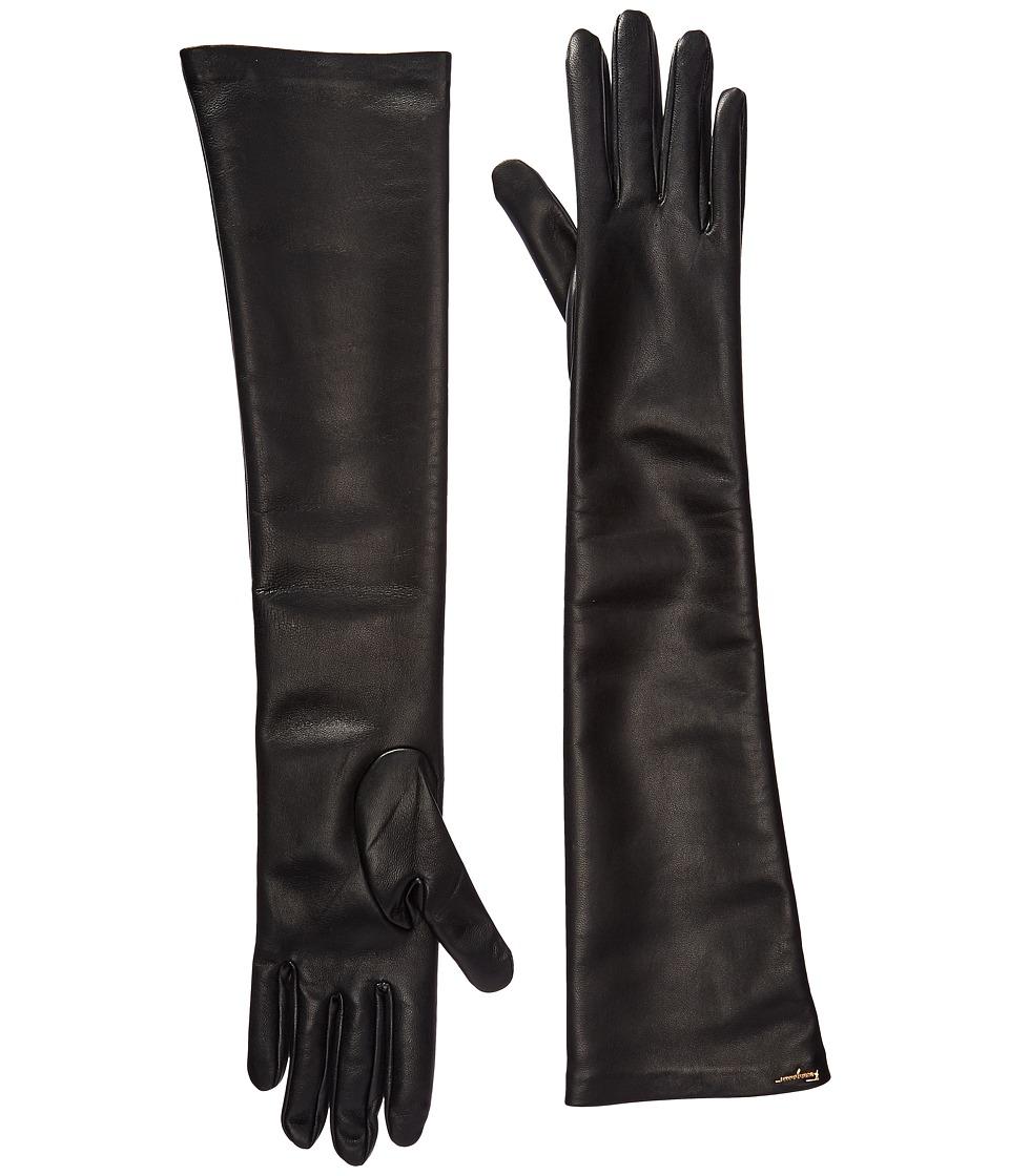 Salvatore Ferragamo 360651 GU NAP.STR Gloves (Black/Black) Dress Gloves