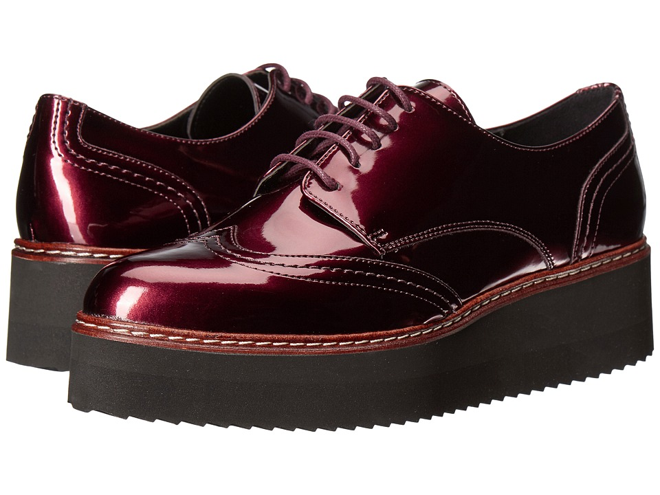 Shellys London - Tommy Platform Oxford (Burgundy) Womens Shoes