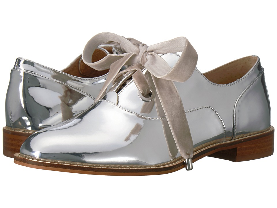 Vintage Style Shoes, Vintage Inspired Shoes Shellys London - Frankie Silver Womens Shoes $89.95 AT vintagedancer.com