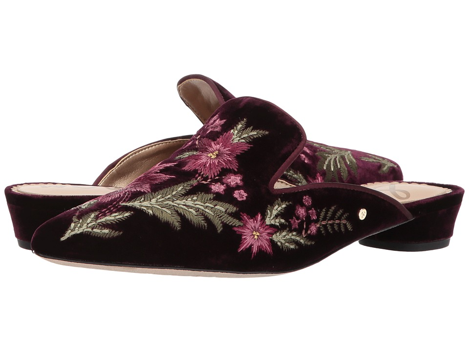 Sam Edelman - Aven (Malbec Silky Velvet) Womens Clog/Mule Shoes