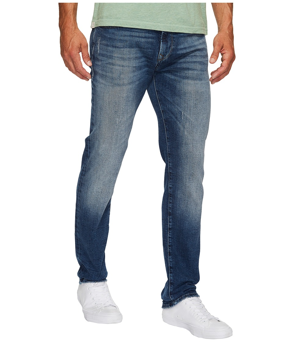 Mavi Jeans Marcus Regular Rise Slim Straight in Mid Destroyed Authentic Vintage (Mid Destroyed Authentic Vintage) Men