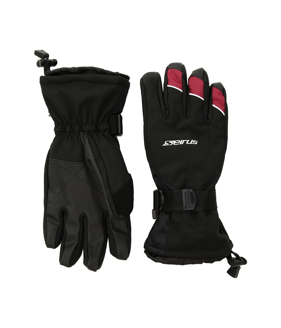 Seirus Brook Gloves (Black/Red) Extreme Cold Weather Gloves