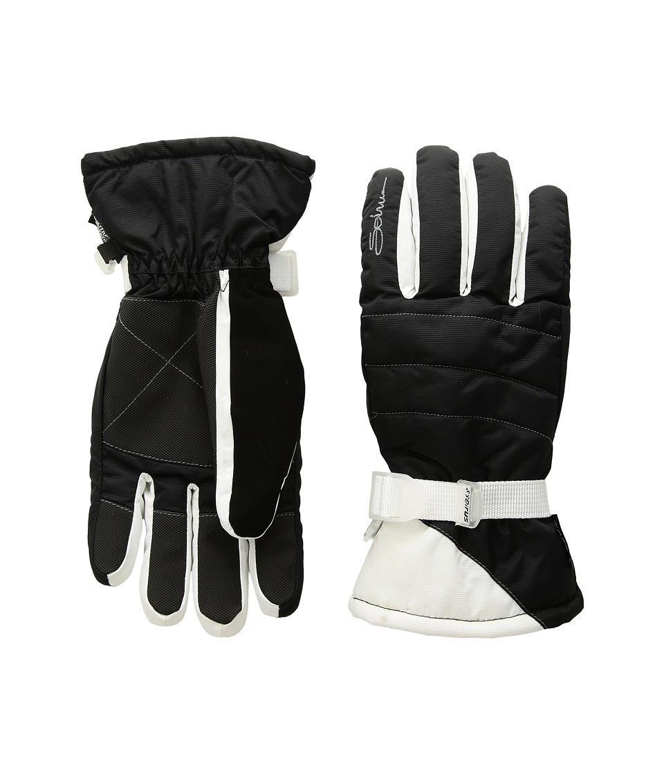 Seirus Stitch Gloves (Black/White) Extreme Cold Weather Gloves