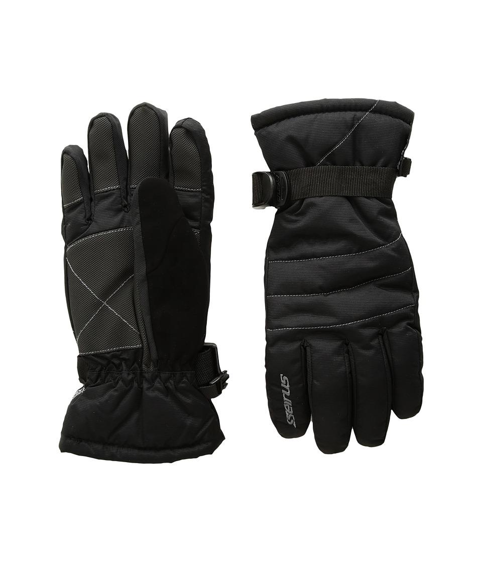 Seirus - Jr Stitch Gloves (Black/Gray) Extreme Cold Weather Gloves