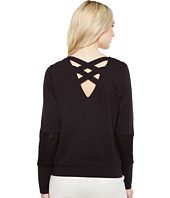 Ivanka Trump - Ponte Crossback and Mesh Long Sleeve Pullover