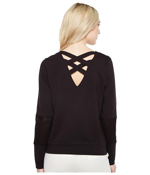 Ivanka Trump Ponte Crossback and Mesh Long Sleeve Pullover