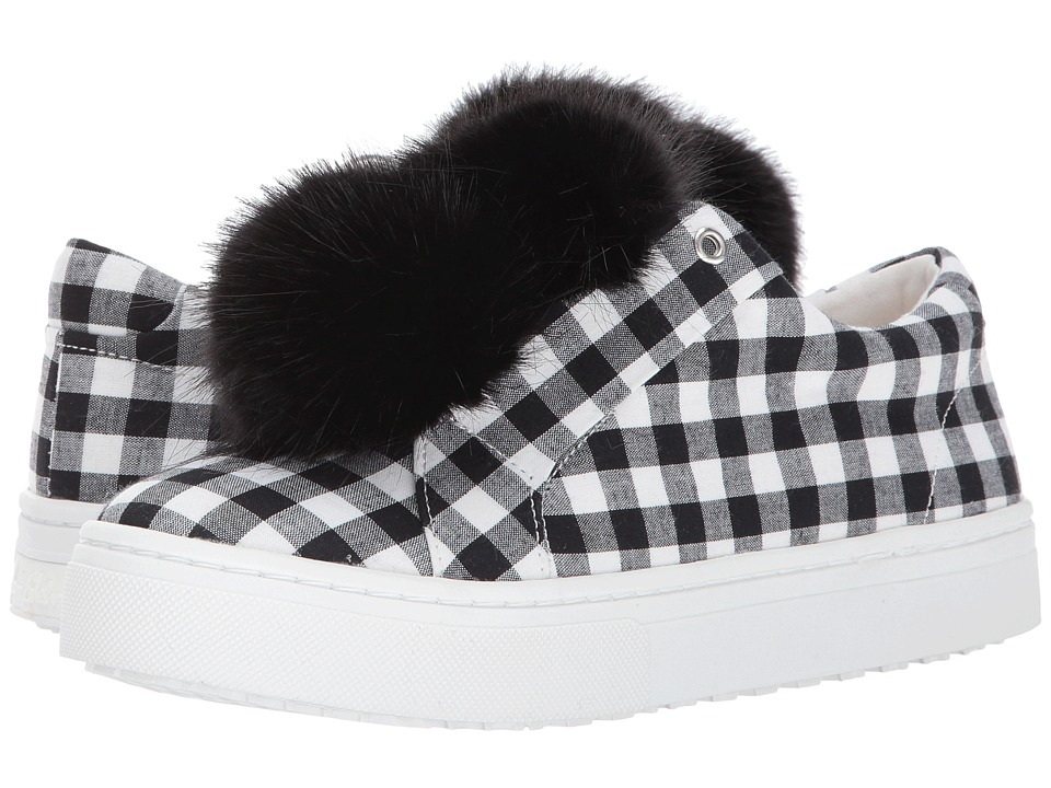 Sam Edelman - Leya (Black/White Large Gingham Print) Womens Shoes