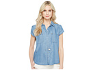 Tencel Woven Slit Neck Collar Shirt