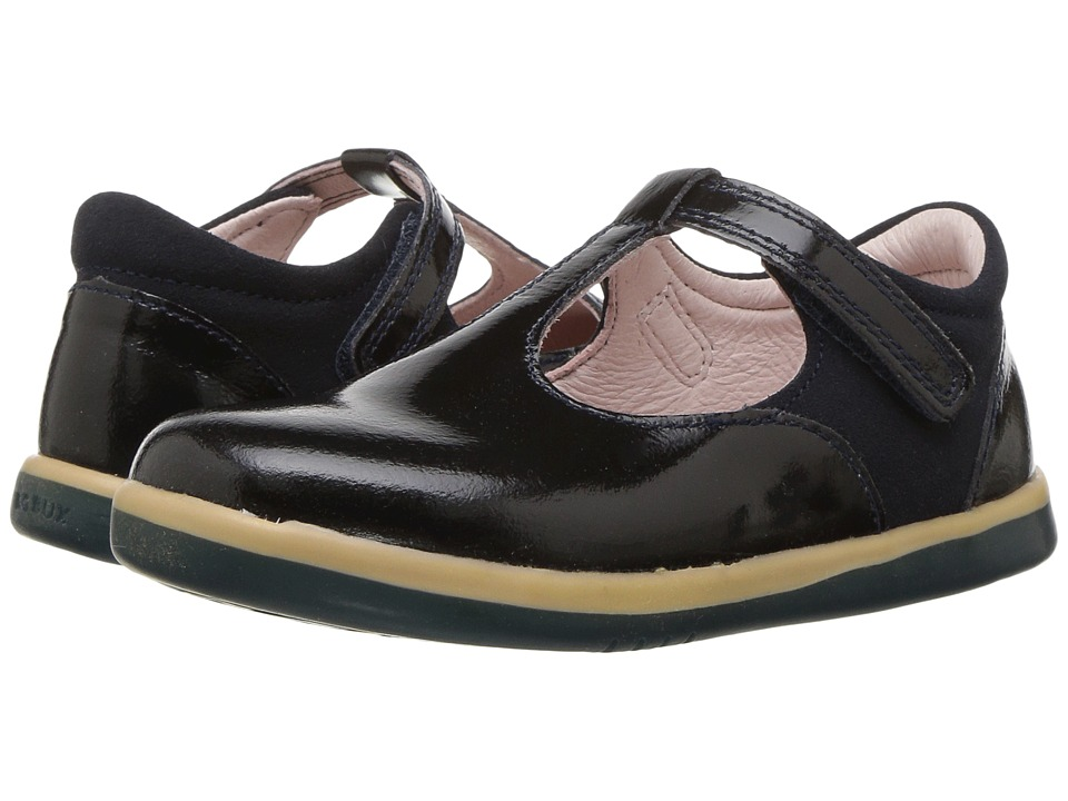 Bobux Kids Kid+ Classic Shine (Toddler/Little Kid) (Midnight Gloss) Girl's Shoes