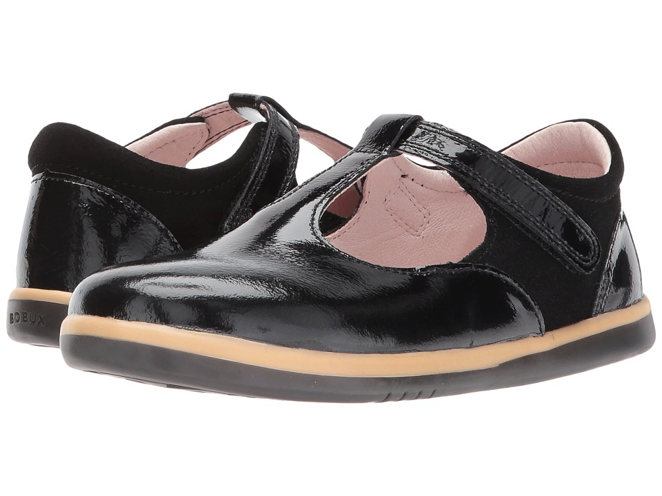 Bobux Kids - Kid+ Classic Shine (Toddler/Little Kid) (Black Gloss) Girls Shoes