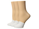 HUE Cotton Toe Topper 3-Pack
