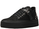 The Kooples Reptile-Effect Leather Platform Trainers
