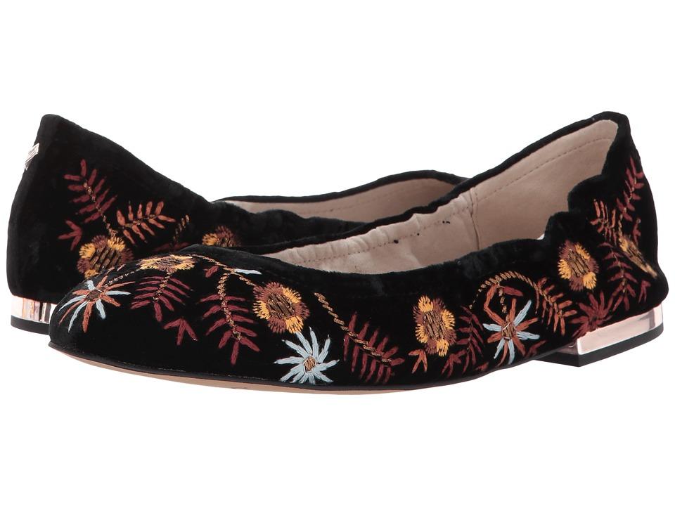 Sam Edelman - Farrow 2 (Black Silky Velvet) Womens Flat Shoes