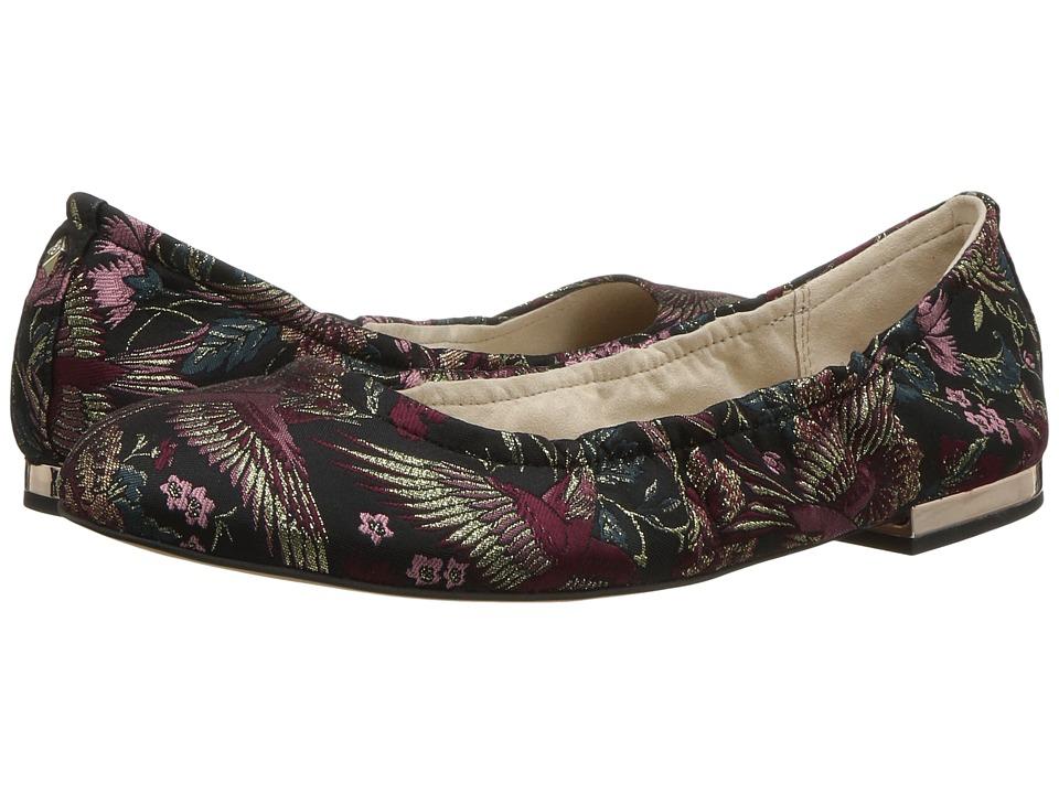 Sam Edelman - Farrow (Black Multi Majesetic Bird Jacquard) Womens Flat Shoes