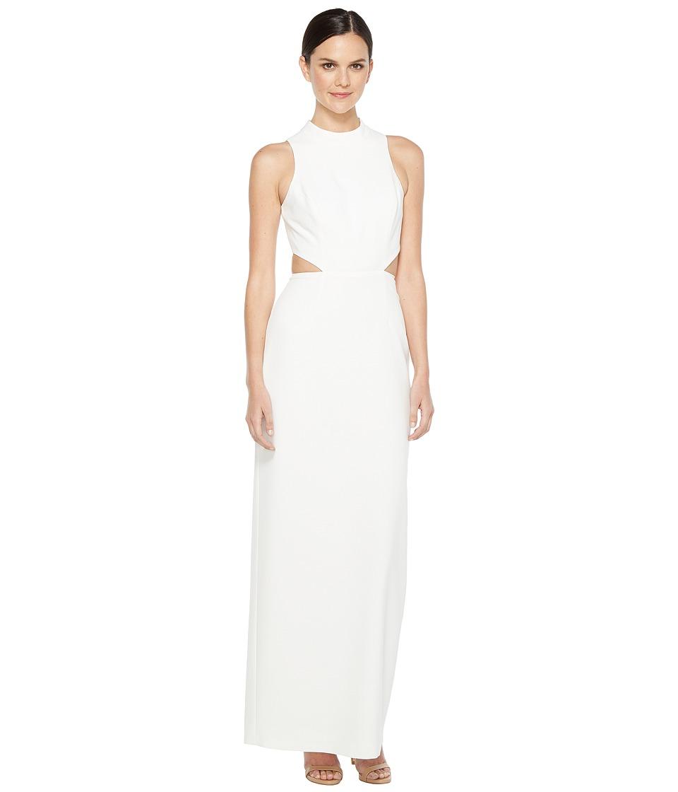 Aidan Mattox Crepe Column Gown (Ivory) Women