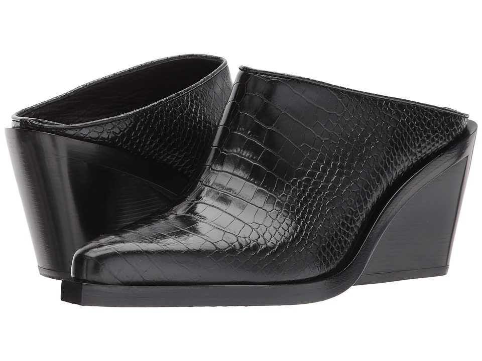 rag & bone Santiago Mule (Black Crocco) Women