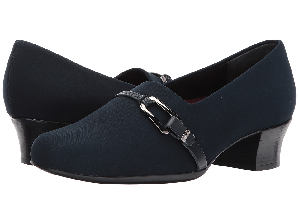 Munro - Cindi (Navy Stretch Fabric) Womens Slip on  Shoes