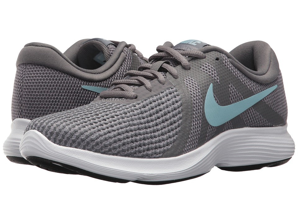Nike Revolution 4 (Gunsmoke/Ocean Bliss/Dark Grey/White) Women's Running Shoes