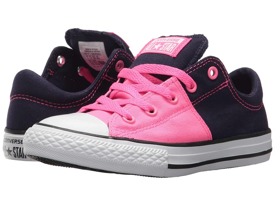 Converse Kids Chuck Taylor All Star Madison Ox (Little Kid/Big Kid) (Pink Pow/Midnight Indigo/White) Girls Shoes