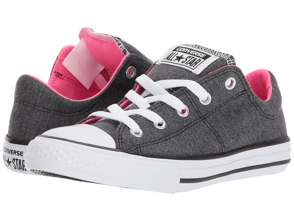Converse Kids Chuck Taylor All Star Madison Ox (Little Kid/Big Kid) (Black/White/Pink Pow) Girls Shoes
