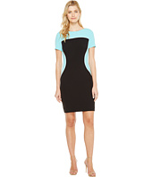 Tahari by ASL - Sleeved Color Block Sheath